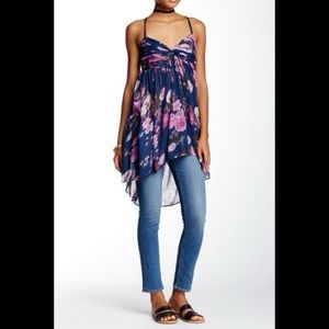 Free People Mirage Tunic Tank Floral Summer Top